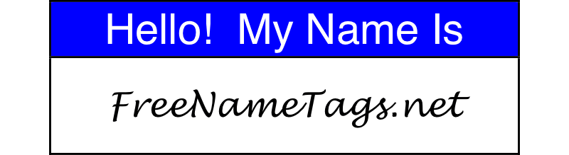 Free Printable Name Tags