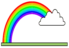Rainbow and Cloud Name Tag