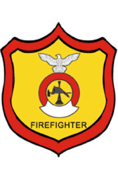 Volunteer Firefighter Badges Name Tag